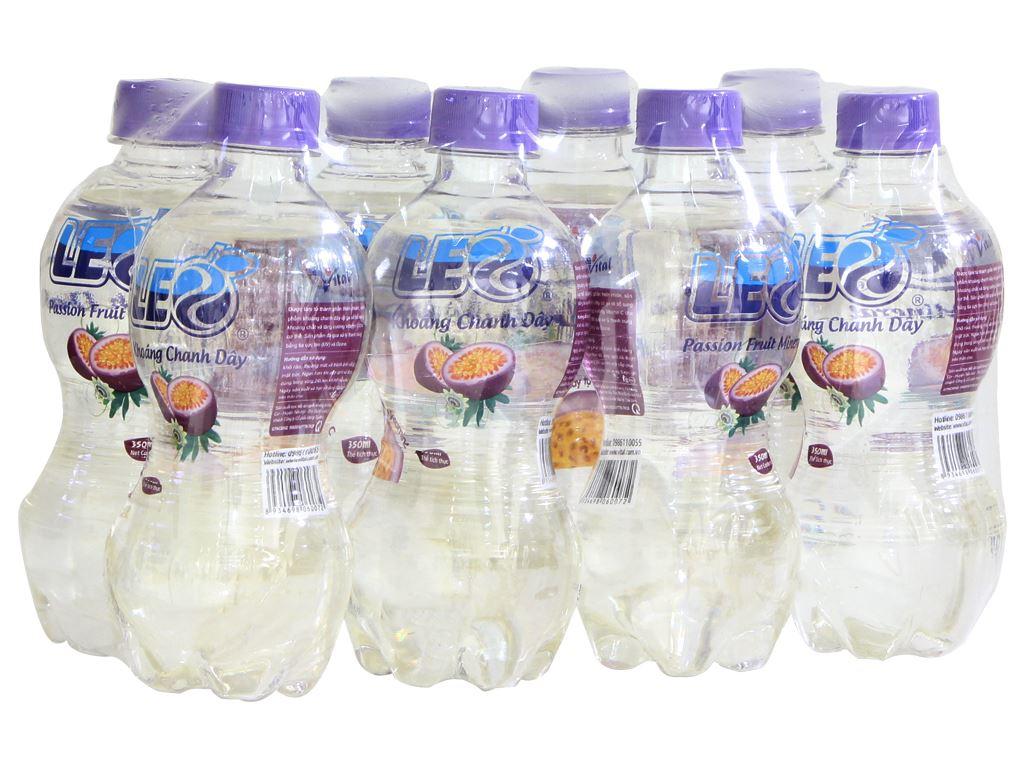 8 chai nước khoáng Leo vị chanh dây 350ml 1