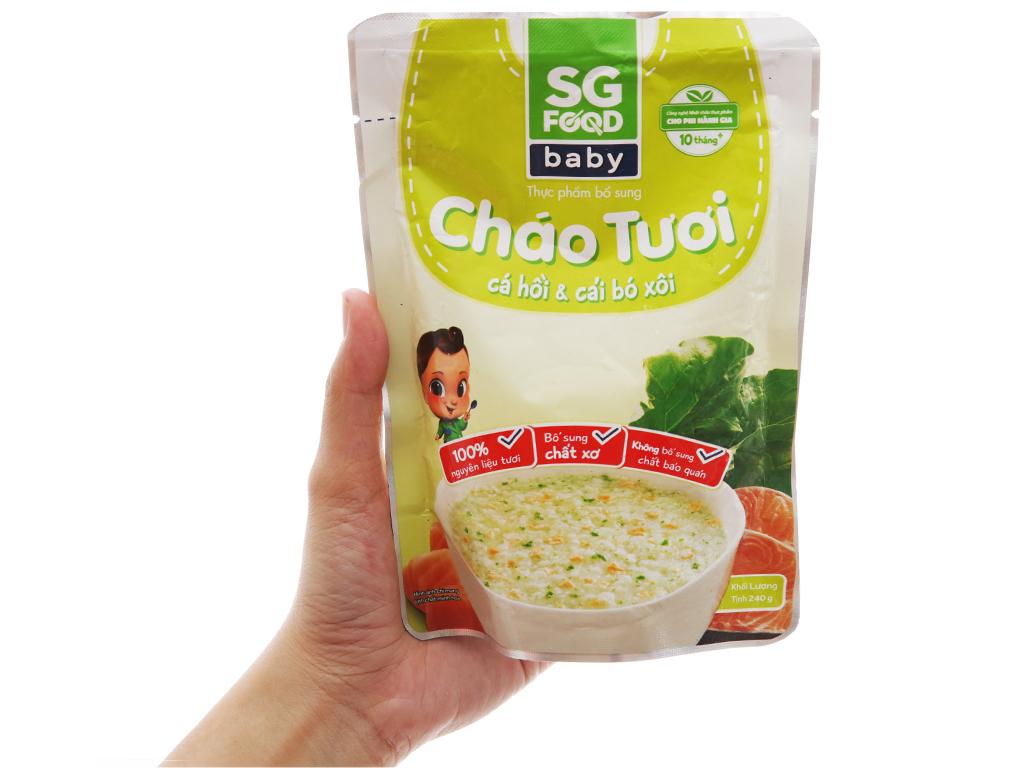 Cháo tươi SG Food Baby cá hồi và cải bó xôi gói 240g 3