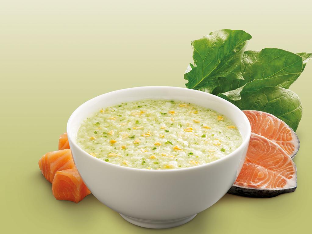 Cháo tươi SG Food Baby cá hồi và cải bó xôi gói 240g 6