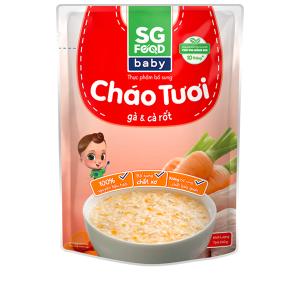 Cháo tươi SG Food Baby gà và cà rốt gói 240g