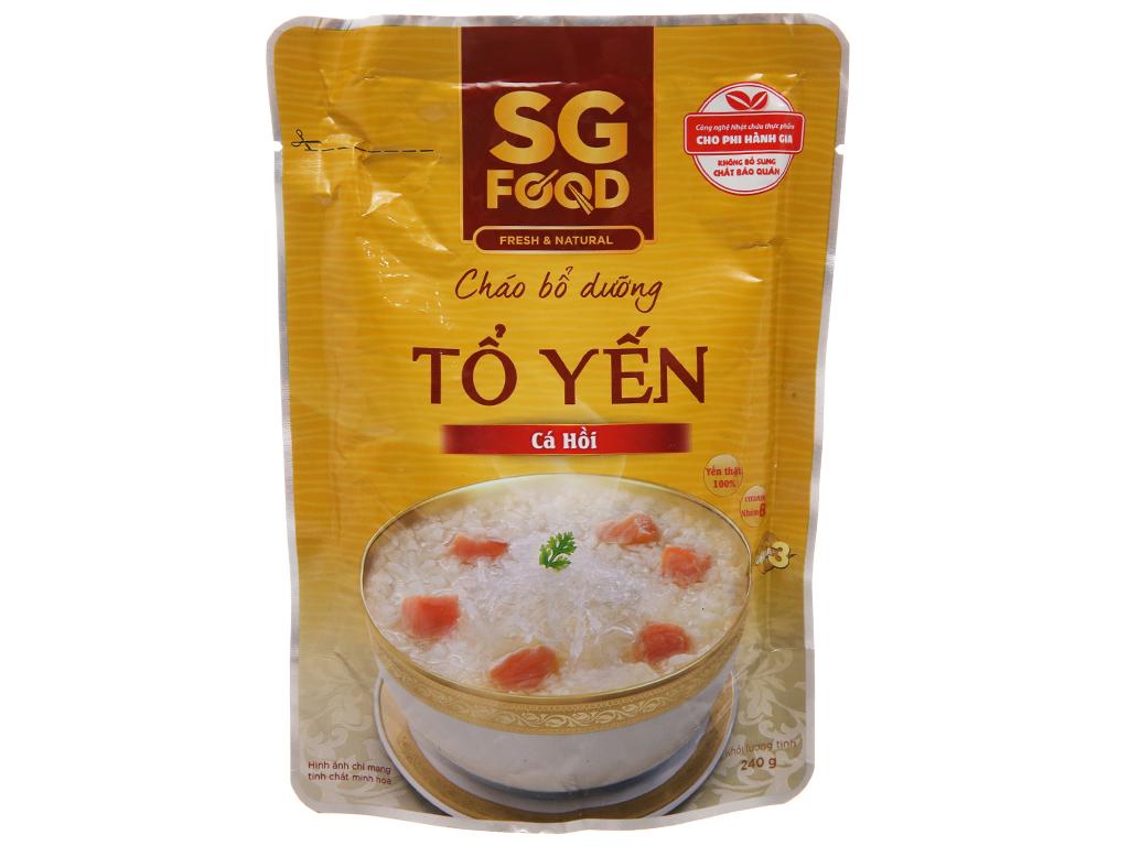Cháo tươi tổ yến cá hồi SG Food gói 240g 2