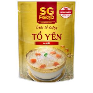 Cháo bổ dưỡng SG Food tổ yến cá hồi gói 240g