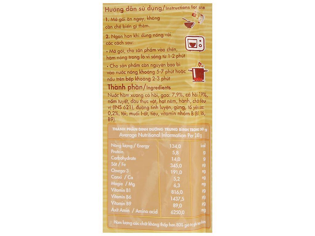 Cháo bổ dưỡng SG Food tổ yến cá hồi gói 240g 3