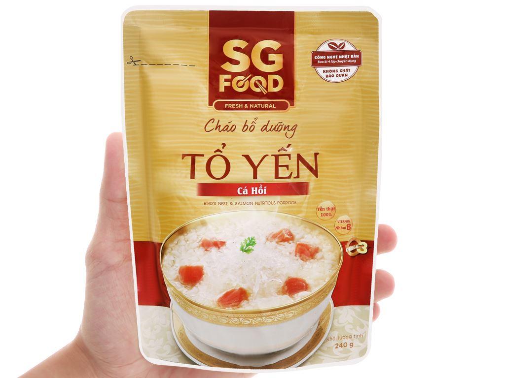 Cháo bổ dưỡng SG Food tổ yến cá hồi gói 240g 4
