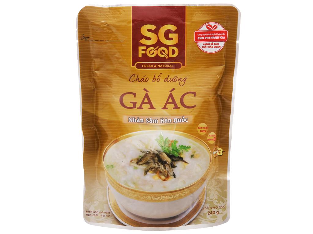Cháo tươi gà ác hầm nhân sâm hàn quốc SG Food gói 240g 2
