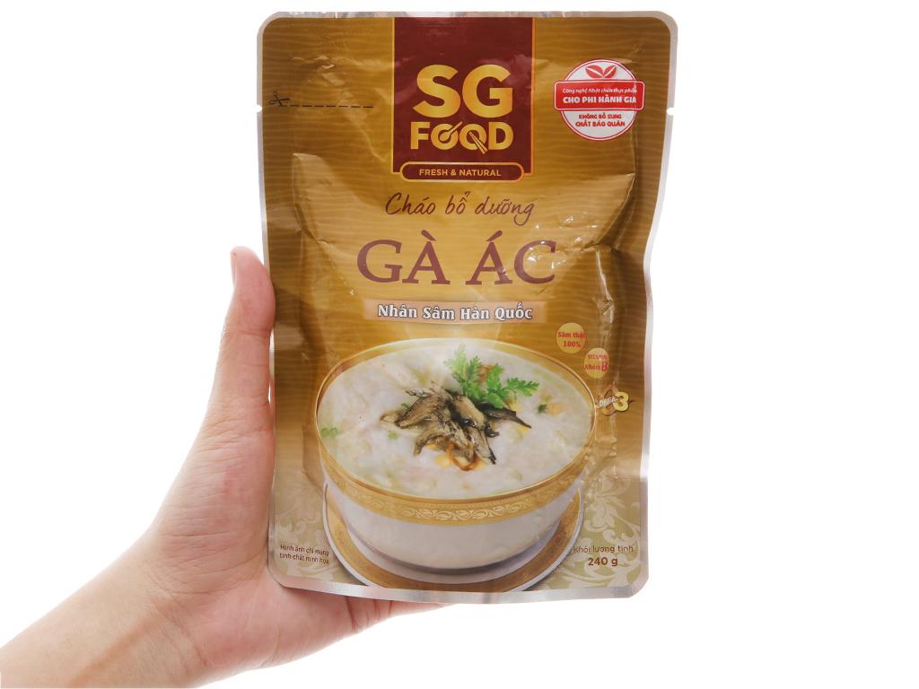 Cháo tươi gà ác hầm nhân sâm hàn quốc SG Food gói 240g 3