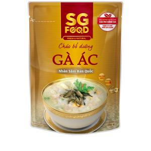 Cháo bổ dưỡng SG Food gà ác nhân sâm Hàn Quốc gói 240g