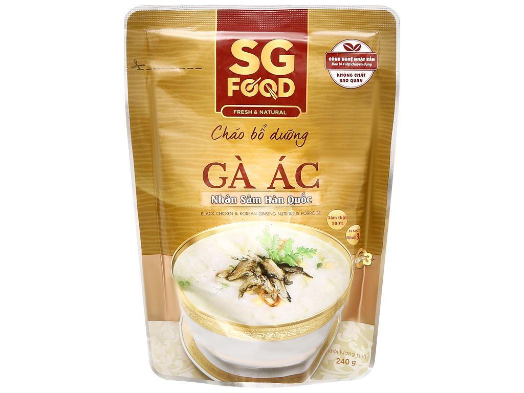 Cháo bổ dưỡng SG Food gà ác nhân sâm Hàn Quốc gói 240g 1