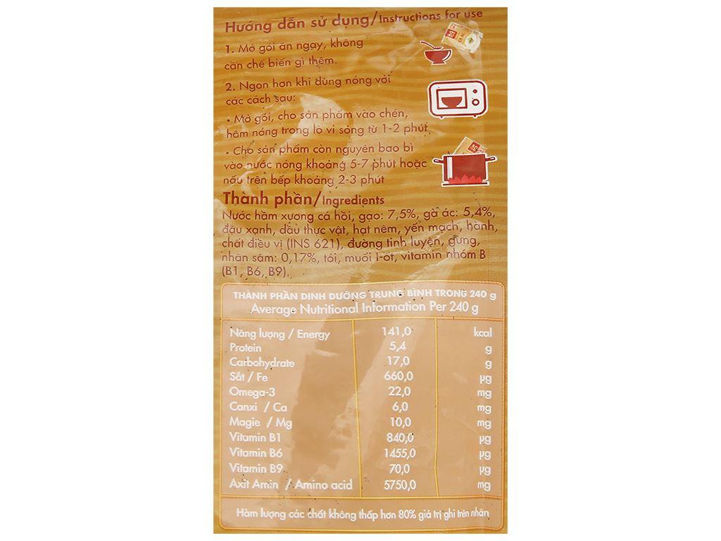Cháo bổ dưỡng SG Food gà ác nhân sâm Hàn Quốc gói 240g 3