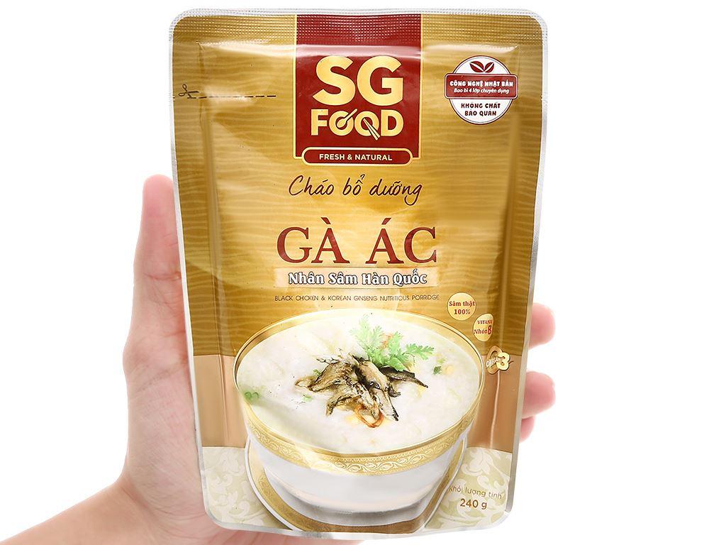 Cháo bổ dưỡng SG Food gà ác nhân sâm Hàn Quốc gói 240g 4