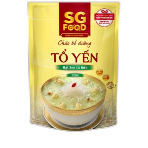 Cháo bổ dưỡng SG Food tổ yến hạt sen lá dứa gói 240g