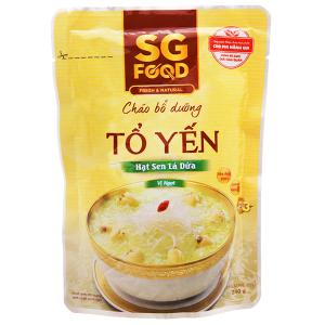 Cháo tươi tổ yến hạt sen lá dứa SG Food gói 240g