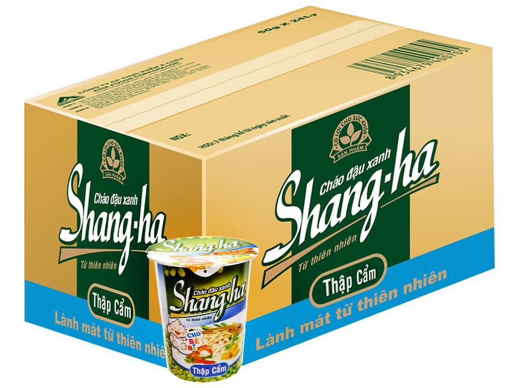 Thùng 24 ly cháo đậu xanh thập cẩm Shangha 50g 1