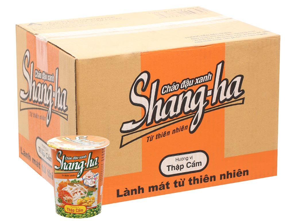 Thùng 24 ly cháo đậu xanh thập cẩm Shangha 50g 8