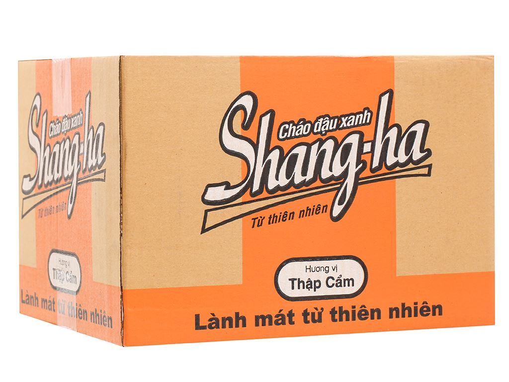 Thùng 24 ly cháo đậu xanh thập cẩm Shangha 50g 9