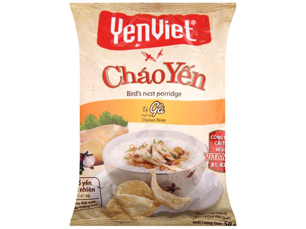 Thùng 30 gói cháo yến vị gà Yến Việt 50g 3