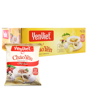 Thùng 30 gói cháo yến thịt bằm Yến Việt 50g
