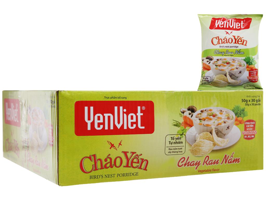 Thùng 30 gói cháo yến chay rau nấm Yến Việt 50g 2