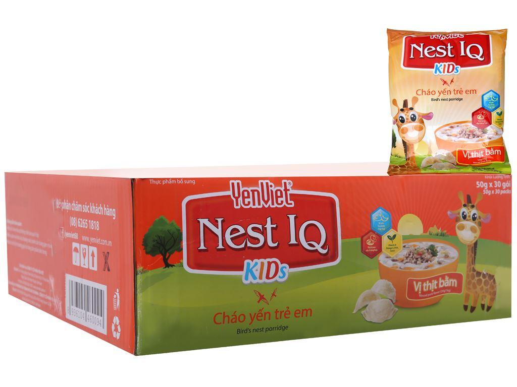 Thùng cháo yến trẻ em thịt bằm Yến Việt gói 50g (30 gói) 2