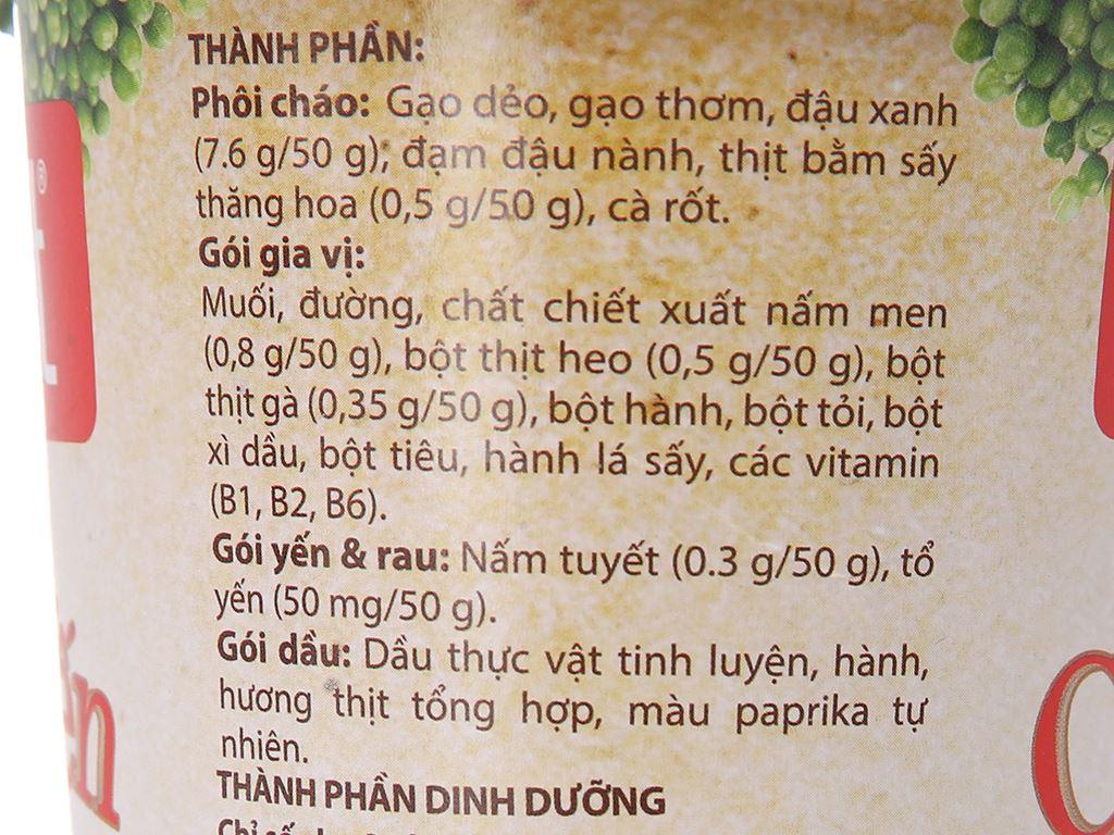 Thùng 24 ly cháo yến Yến Việt đậu xanh thịt bằm 50g 6