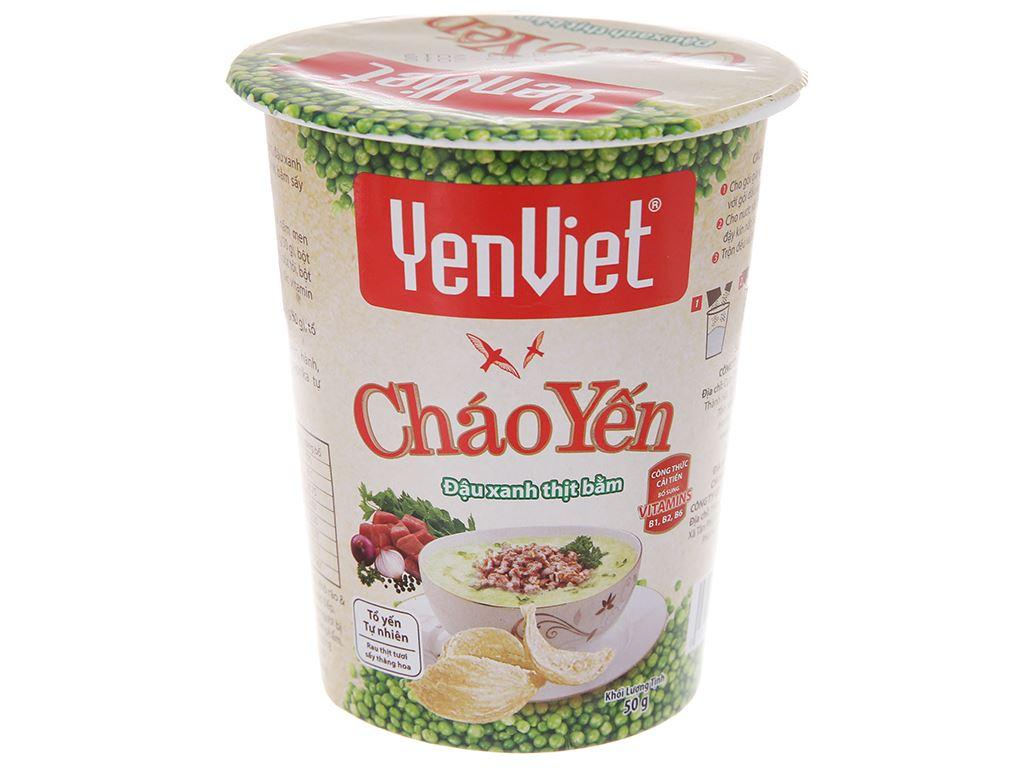 Thùng 24 ly cháo yến Yến Việt đậu xanh thịt bằm 50g 3