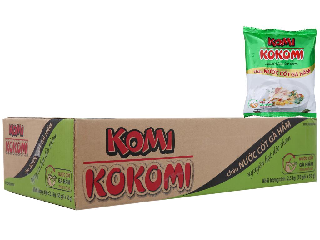 Thùng 50 gói cháo nước cốt gà hầm Komi gói 50g 2