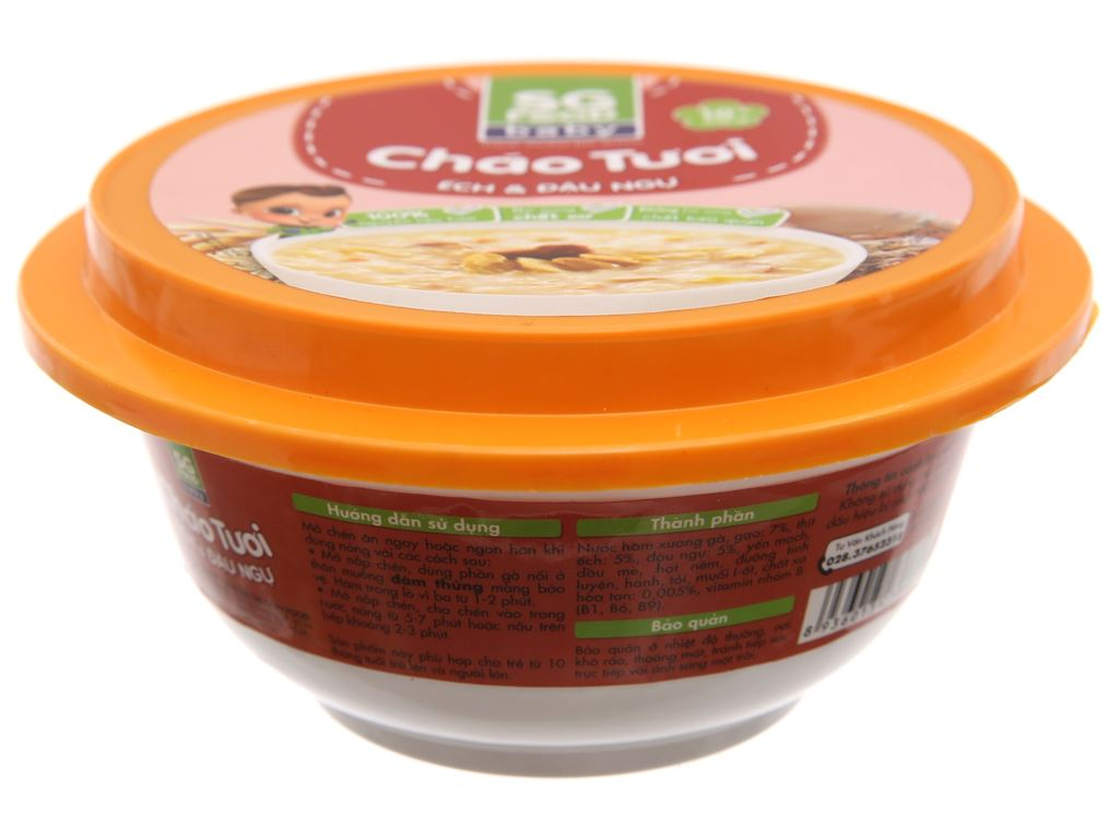 Cháo tươi SG Food Baby ếch và đậu ngự hộp 240g 2