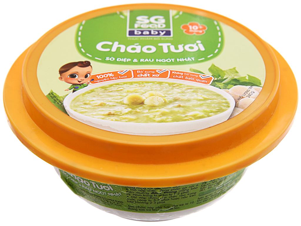 Cháo tươi sò điệp rau ngót SG Food hộp 240g 1