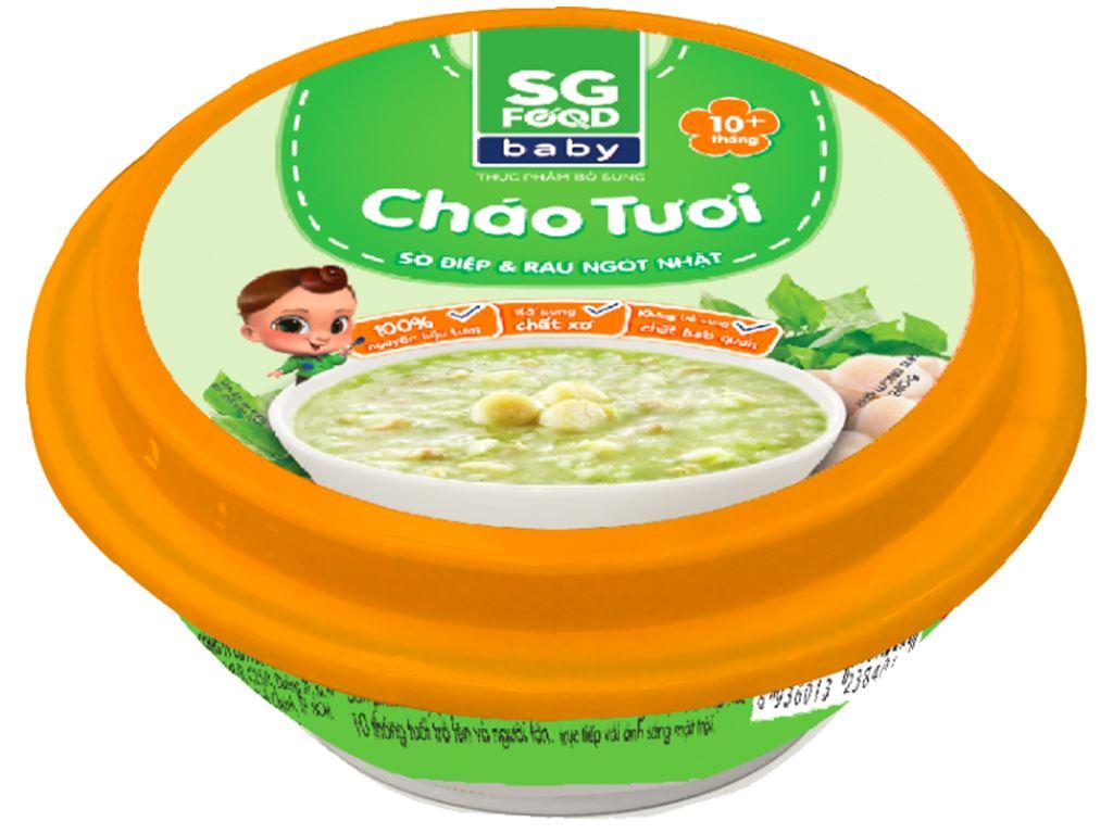 Cháo tươi SG Food Baby sò điệp và rau ngót Nhật hộp 240g 1