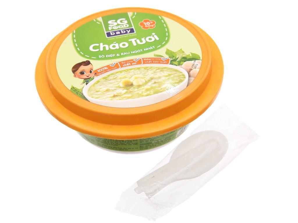 Cháo tươi SG Food Baby sò điệp và rau ngót Nhật hộp 240g 3