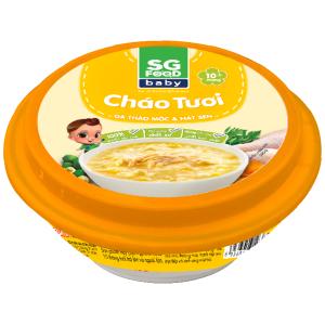 Cháo tươi SG Food gà thảo mộc và hạt sen hộp 240g