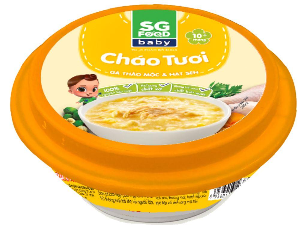 Cháo tươi SG Food gà thảo mộc và hạt sen hộp 240g 1