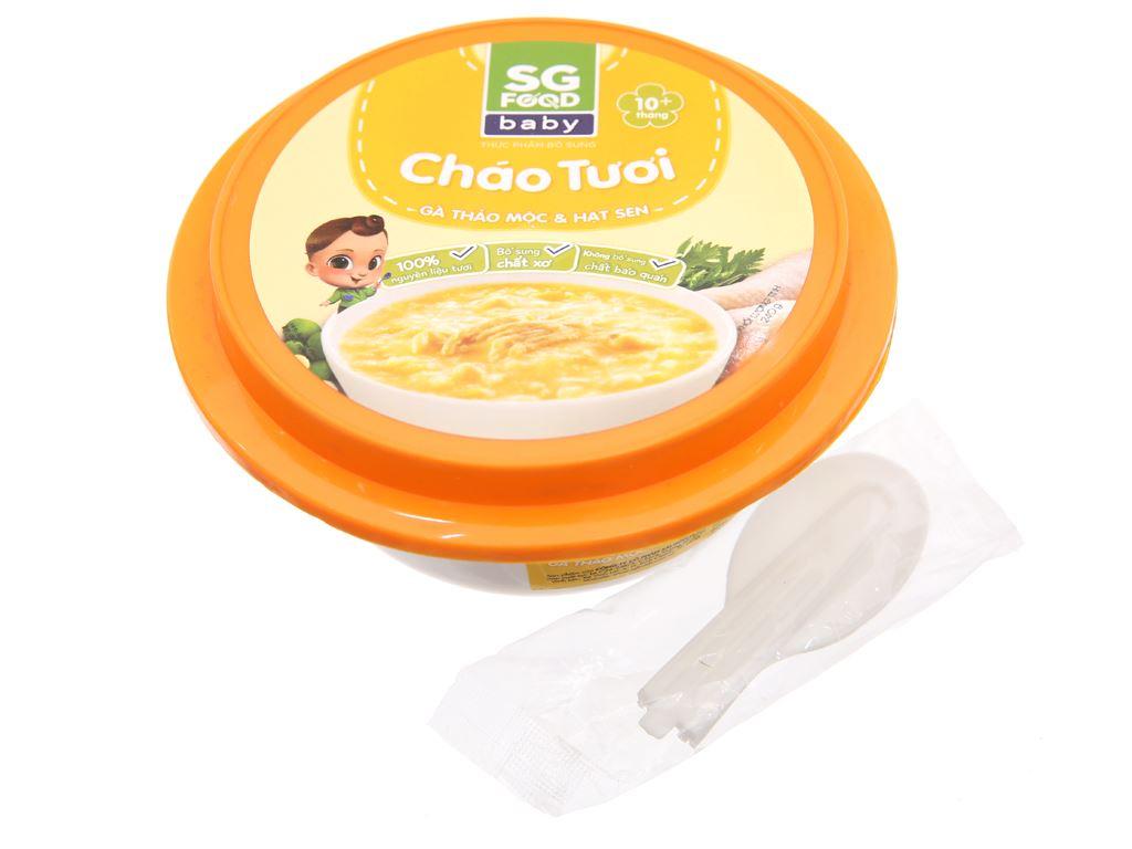 Cháo tươi SG Food gà thảo mộc và hạt sen hộp 240g 3