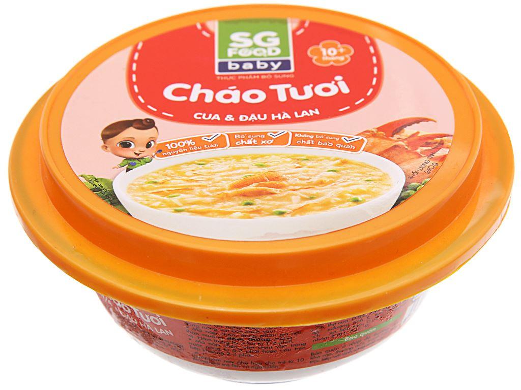 Cháo tươi cua và đậu hà lan SG Food hộp 240g 1