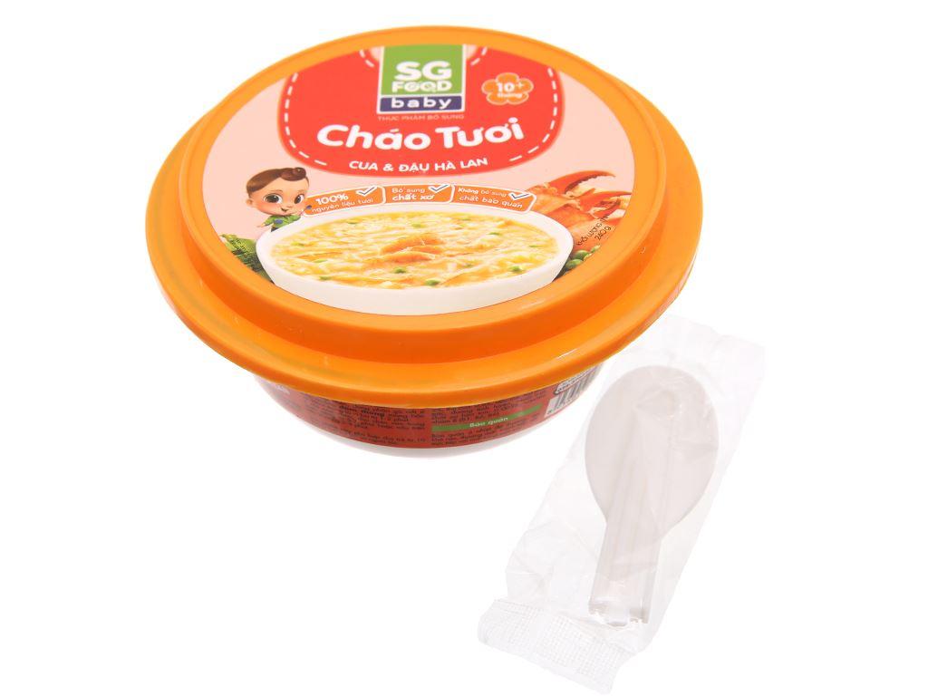 Cháo tươi SG Food Baby cua và đậu Hà Lan hộp 240g 3