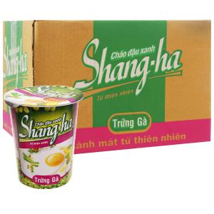 Thùng 24 ly cháo đậu xanh trứng gà Shangha 50g