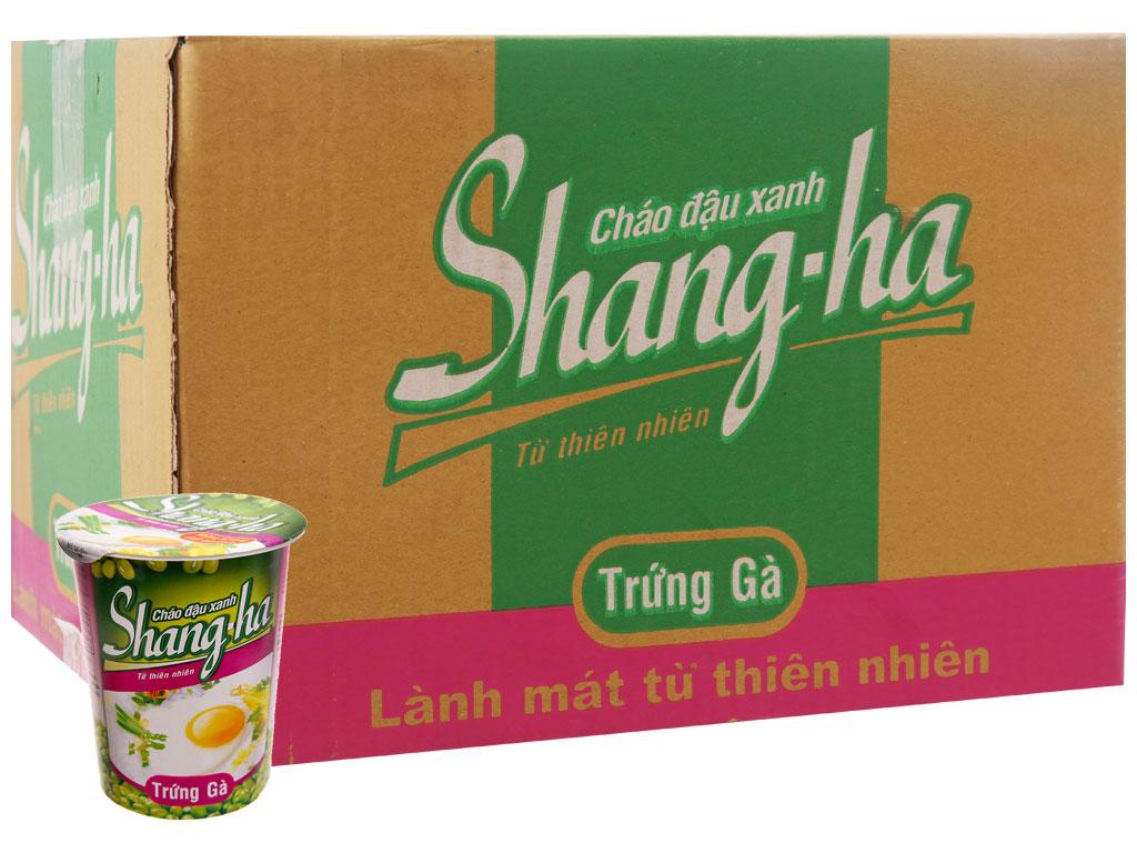 Thùng 24 ly cháo đậu xanh trứng gà Shangha 50g 2