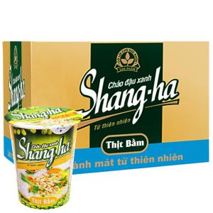 Thùng 24 ly cháo đậu xanh Shangha vị thịt bằm 50g