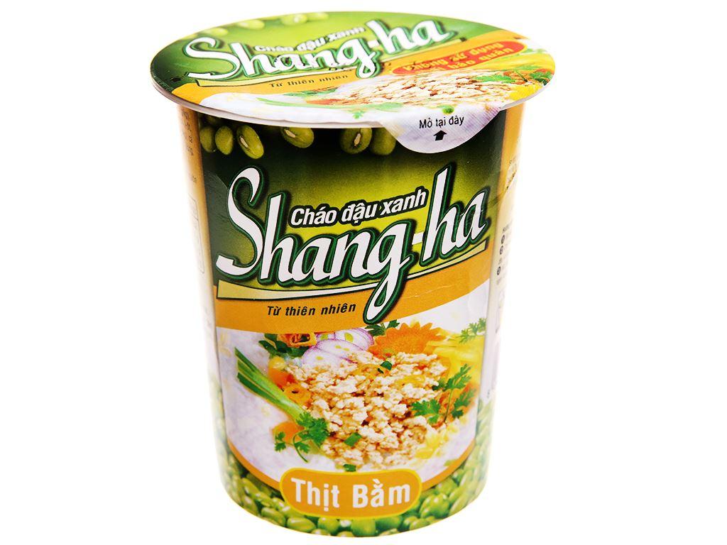 Thùng 24 ly cháo đậu xanh thịt bằm Shangha 50g 2