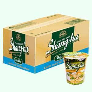 Thùng 24 ly cháo đậu xanh thịt bằm Shangha 50g