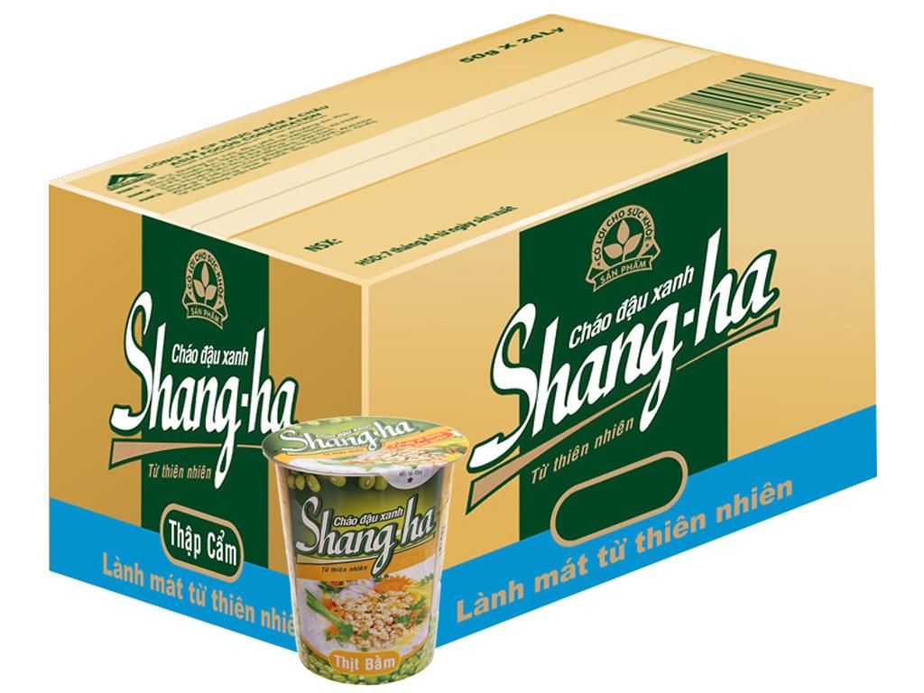 24 ly cháo đậu xanh thịt bằm Shangha ly 50g 1