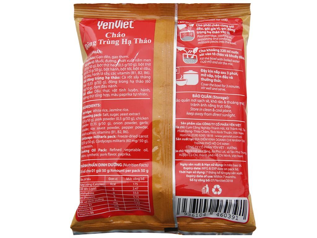 Thùng 30 gói cháo đông trùng hạ thảo thịt bằm Yến Việt 50g 3