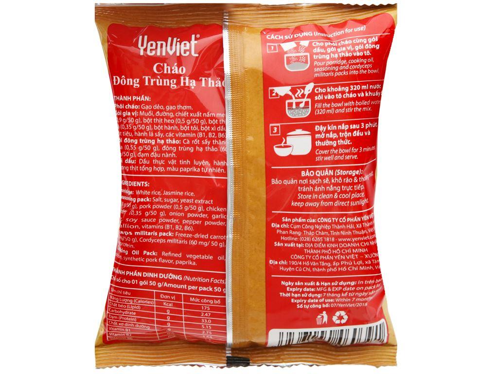 Thùng 30 gói cháo đông trùng hạ thảo vị thịt bằm Yến Việt 50g 6