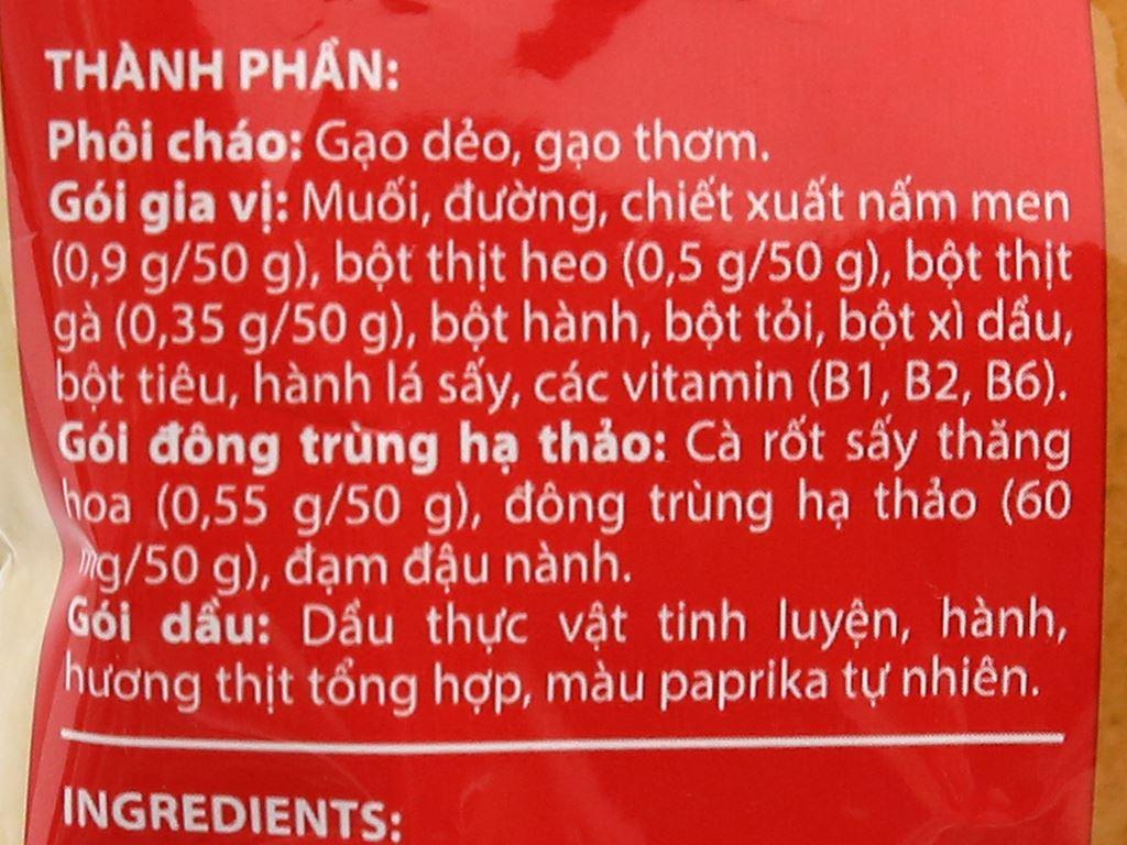 Thùng 30 gói cháo đông trùng hạ thảo Yến Việt vị thịt bằm 50g 7