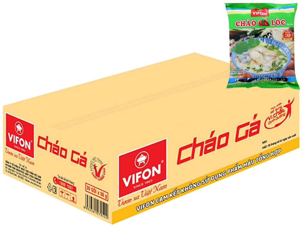 Thùng cháo cá lóc Vifon gói 50g (50 gói) 1