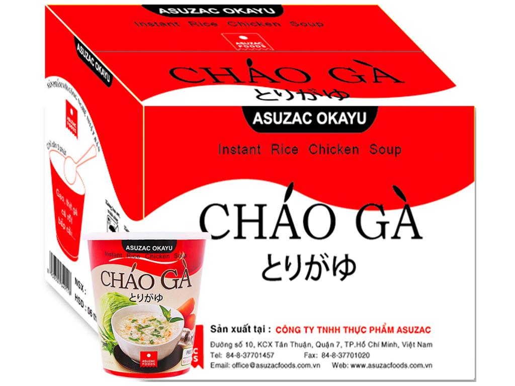 Thùng cháo gà Asuzac ly 36g (12 ly) 2