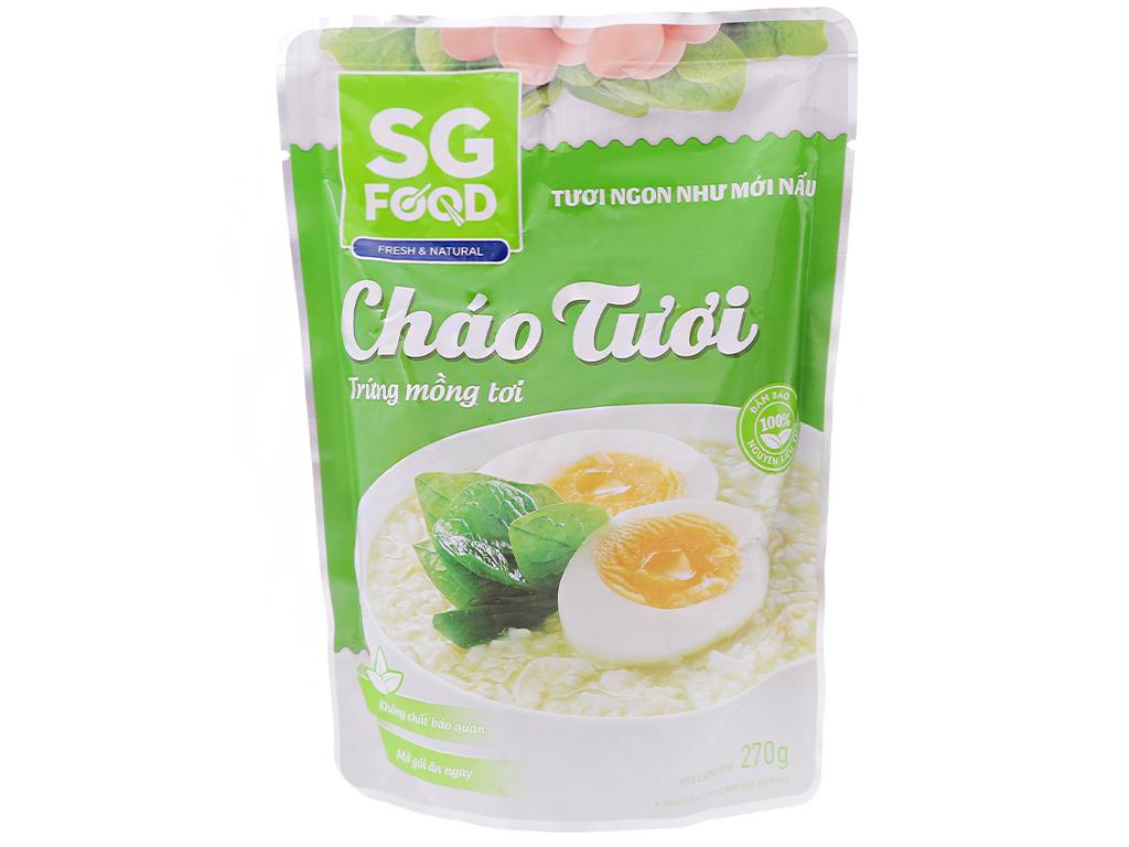 Cháo tươi trứng mồng tơi SG Food gói 270g 1