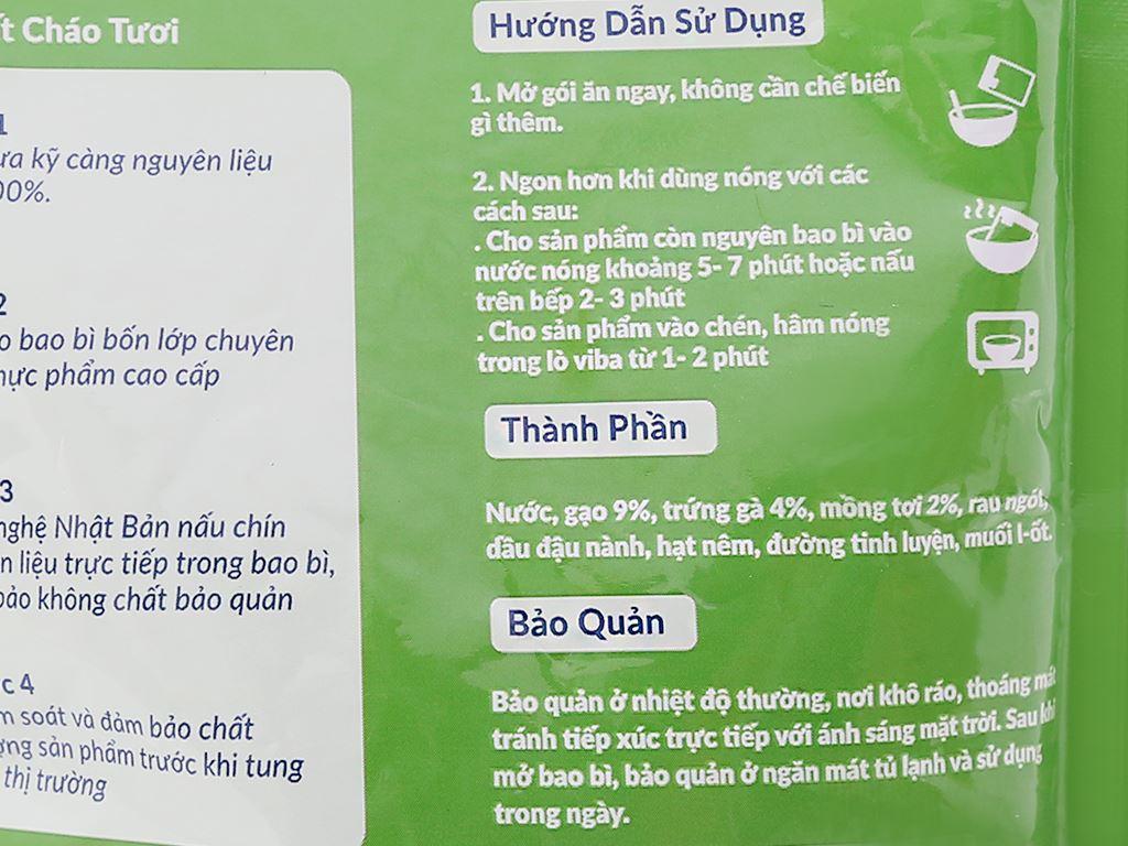 Cháo tươi trứng mồng tơi SG Food gói 270g 5