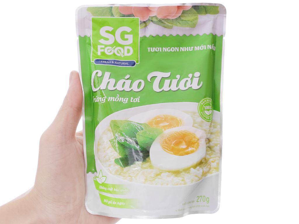 Cháo tươi trứng mồng tơi SG Food gói 270g 3