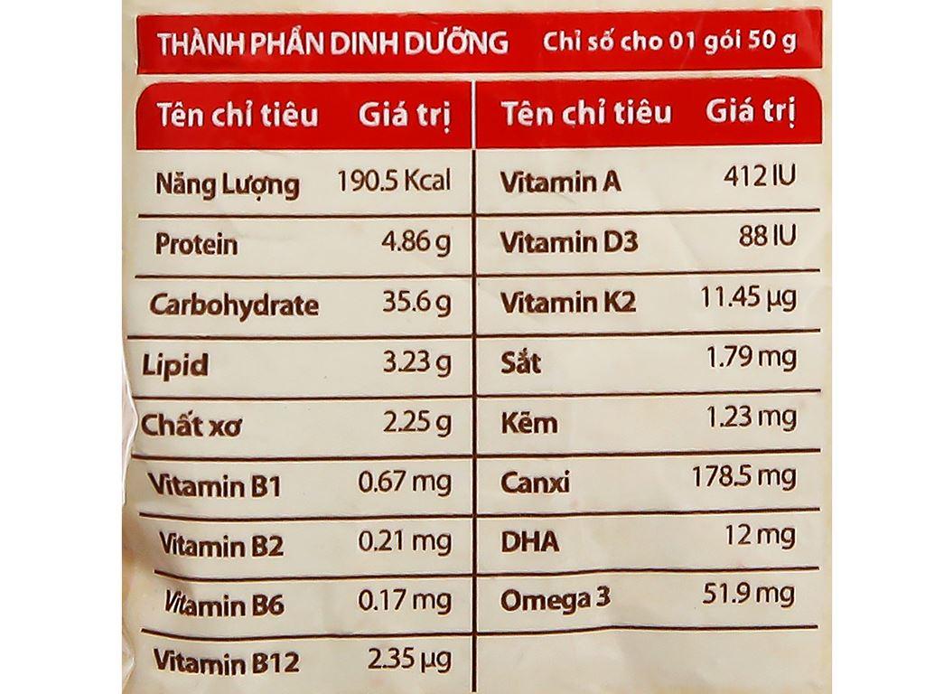 Cháo yến trẻ em Yến Việt Nest Grow+ bò bằm bó xôi gói 50g 6
